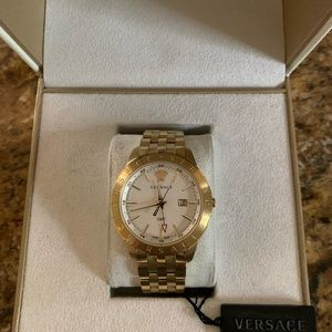 VERSACE Champagne Metal Univers Watch NEW WITH BOX